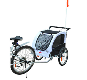 2 in 1 bike trailer for 2 kids,