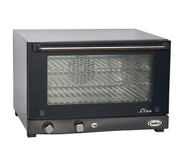 New Cadco Commercial Electric Convection Oven 3 Rack Single Half Size Countertop