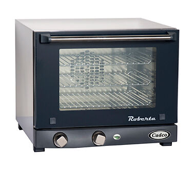 New Cadco Commercial Electric Convection Oven Single Quarter Size Countertop 3