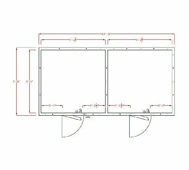 American Panel 10x20-o 231 Remote Walk In Combination Cooler Freezer