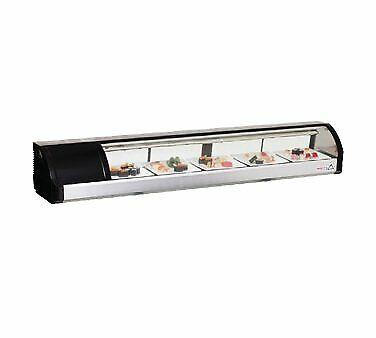 Everest Esc71l 71 Refrigerated Sushi Display Case Left Mounted