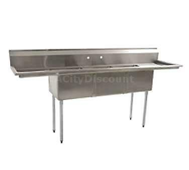 Eagle Group Blendport 18x18 3 Compartment Stainless Steel Economy Sink