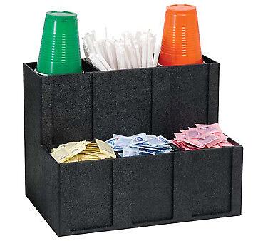 Dispense-rite Cup Lid Straw Condiment Organizer - Mcd-6bt