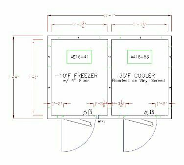 American Panel 8x12-o 139 Remote Walk In Combination Cooler Freezer