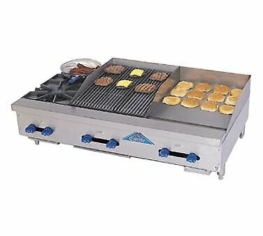 Comstock-castle Fhp48-18t-1.5rb 48 Countertop Gas Griddle Charbroiler