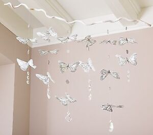 New: PotteryBarn Butterfly & mirror decore/mobile(original $89)