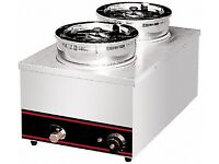 B New Stainless Steel Kitchen Equipment Electric Table Top Bain Marie