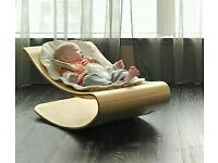 Bloom coco beech rocker with white seat insert