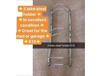 Steel 3 bike holder