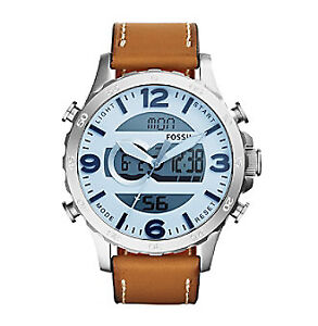 MONTRE WATCH  NEW NEUF FOSSIL NATE CHRONO ANALOG DIGITAL SUPERB