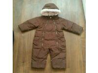 Baby girl winter gap snowsuit pram suit 6, 12 month
