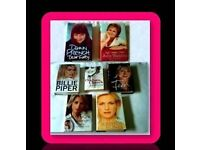 FEMALE CELEBRITY BIOGRAPHIES - 7 BOOKS - HARDCOVER & PAPERBACK - FOR SALE