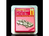 HAYNES CAR SERVICE AND REPAIR MANUAL - VAUXHALL ASTRA & BELMONT - FOR SALE