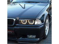 BMW headlight eyebrow brow frames kit cover eyelids car styling black