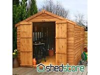 New 12' x 8' (2.37x3.50m) Windsor Overlap Apex Windowless Shed