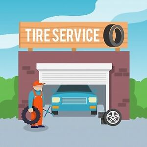 Mobile Tire service change over and repair