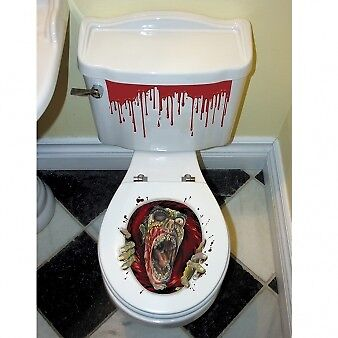 HALLOWEEN Toilettensitz ZOMBIE Grusel Dekoration - Halloween Dekoration