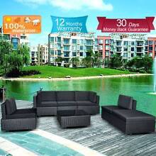 Garden Set Indoor Outdoor Sofa Lounge couch Setting Furniture 7Pc Campbellfield Hume Area Preview