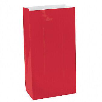 BULK/JOB LOT 60 x Candy Buffet Apple Red Mini Paper Bags