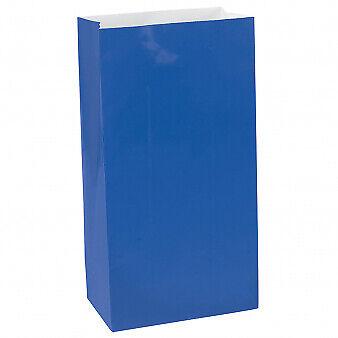 BULK/JOB LOT 60 x Candy Buffet Bright Blue Mini Paper Bags