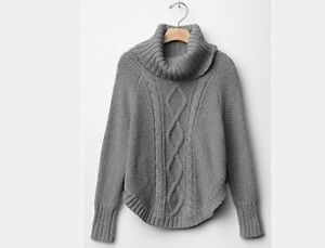 Cable knit sweater poncho from Gap Kids