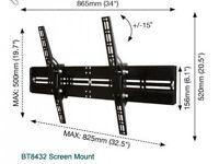 TV universal flat screen wall mount with tilt.