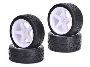 Set of wheels & on road tyres for 1:10 RC Buggy suit Tamiya HSP HBX HPI