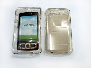 CLEAR CRYSTAL TRANSPERENT HARD CASE COVER FOR NOKIA N95 8GB
