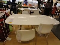 LIKE NEW Oppeby White High Gloss Table