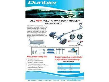 DUNBIER FOLD\AWAY TRAILER - $ 1,550.00 INCL REGO