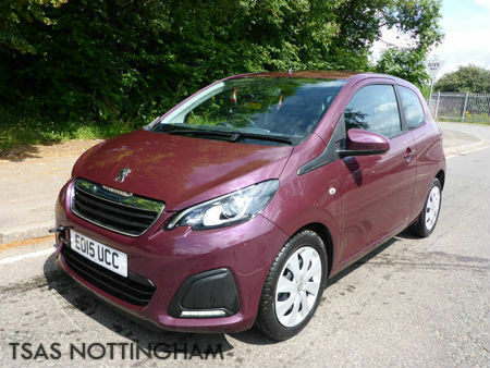 2015 Peugeot 108 1.0 Active 68 Bhp A/C Purple Damaged Salvage CAT D
