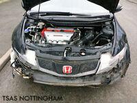 2009 Honda Civic Type R GT 2.0 i-VTEC Black Damaged Salvage