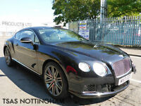 2013 Bentley Continental V12 GT Speed Auto 616 BHP Damaged Salvage CAT D
