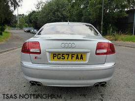 2007 *57* Audi S8 5.2 FSI Auto Quattro Silver Damaged Repaired CAT D
