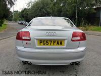2007 *57* Audi S8 5.2 FSI Auto Quattro Silver Damaged Repaired CAT D
