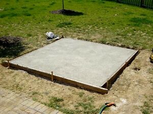 NEED CONCRETE / CEMENT FOR STORAGE SHED PAD?