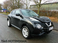 2016 *66* Nissan Juke 1.5 DCi 110 N-Connecta Black Damaged Salvage CAT D