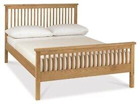 Pre-loved King-size Rubberwood Bed Frame (Bentley Designs Atlanta - High Foot End )