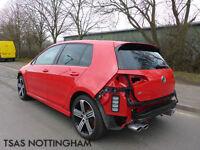 2015 *65* Volkswagen Golf R 4X4 2.0 TSI 300 BHP Red Damaged Salvage CAT D