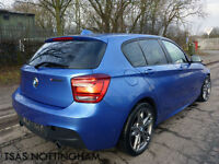 2014 BMW 1 Series M I M135i 3.0 320 Bhp Sports Hatch Auto Blue Damaged Salvage
