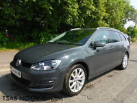 2014 Volkswagen Golf 2.0 GT Estate TDI 150 Grey Damaged Salvage CAT D