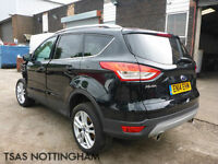 2014 Ford Kuga 2.0 TDCi Titanium X 4X4 163 AWD Black Damaged Salvage CAT D