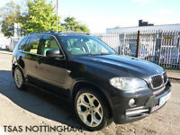 2008 *58* BMW X5 3.0D Auto SE Black Damaged Salvage