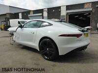 2014 14 Jaguar F-TYPE 3.0 V6 Supercharged Auto Coupe White Damaged Salvage CAT D
