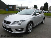 2013 *63* Seat Leon 2.0 TDI FR CR 150 Silver Damaged Repaired CAT D