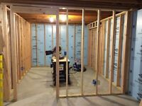 """BASEMENT FRAMING ONLY """" FATHER & SON TEAM """" VERY FAIR PRICES"""