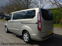 2015 Ford Tourneo Custom 300 LTD EDITION 8 Seater Silver Damaged Salvage CAT D