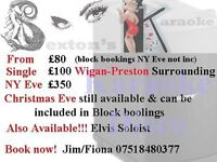 Karaoke Disco or Elvis Soloist Available Book Now to avoid dissapointment