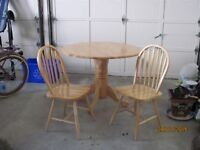 wood kitchen table and chair