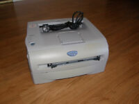 Brother slimline laser printer,few months old,works perfect,ink included,only £45,not to be missed